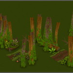 Catcha Catcha Aliens - Forest Level Tiles 1