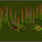Catcha Catcha Aliens - Forest Level Tiles 2