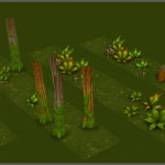 Catcha Catcha Aliens - Forest Level Tiles 3