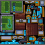 iOS Strategy Game Buildings Textures